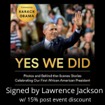 Yes We Did by Lawrence Jackson Signed with 15% post event discount